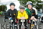 l-r  Luke Regan, Conor Walsh and Melanie Walsh at the  St Kieran's GAA cycle from the Castleisland Desmonds Pitch on Sunday