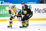 Stockholm 2013-12-07 Ishockey Elitserien AIK - Skellefte&aring; AIK :  <br /> Skellefte&aring;s Jimmie Ericsson i kamp om pucken med AIK:s Patric Blomdahl under matchen<br /> (Foto: Kenta J&ouml;nsson) Nyckelord:  AIK Skellefte&aring; SAIK