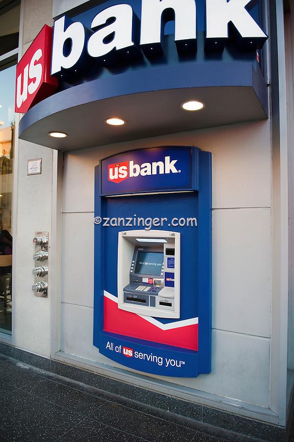 Hollywood, Boulevard, CA, US Bank, Atm Machine ,Vertical image