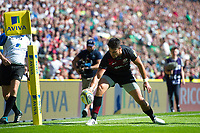 Sean Maitland of Saracens scores his third try of the match. Aviva Premiership match, between Saracens and Northampton Saints on September 2, 2017 at Twickenham Stadium in London, England. Photo by: Patrick Khachfe / JMP