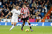 Real Madrid CF vs Athletic Club de Bilbao (5-1) at Santiago Bernabeu stadium. The picture shows Ander Iturraspe and Alvaro Arbeloa. November 17, 2012. (ALTERPHOTOS/Caro Marin) NortePhoto