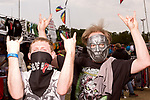 May 7, 2016. Concord, North Carolina. <br />  Fan portraits.<br />  The 2016 Carolina Rebellion was held over May 6-8 next to the Charlotte Motor Speedway and featured over 50 bands including headliners Lynyrd Skynyrd, The Scorpions, Five Finger Death Punch, Disturbed, and Rob Zombie.