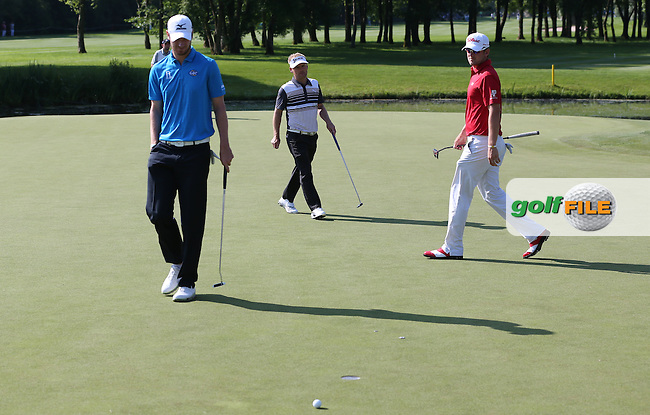 Chris Wood (ENG) settles for par on the 11th during Round Two of the 2015 BMW International Open at Golfclub Munchen Eichenried, Eichenried, Munich, Germany. 26/06/2015. Picture David Lloyd | www.golffile.ie