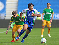 Wigan Athletic's Reece James gets away from Preston North End's Sean Maguire<br /> <br /> Photographer David Shipman/CameraSport<br /> <br /> The EFL Sky Bet Championship - Wigan Athletic v Preston North End - Monday 22nd April 2019 - DW Stadium - Wigan<br /> <br /> World Copyright © 2019 CameraSport. All rights reserved. 43 Linden Ave. Countesthorpe. Leicester. England. LE8 5PG - Tel: +44 (0) 116 277 4147 - admin@camerasport.com - www.camerasport.com