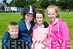 Christian Kennedy tralee, michaela Marshall Ballymac, Sarah Spillane Asdee and Louise Quinlan Listowel at the Killorglin Pony show on Sunday