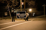 January 25, 2008. Columbia, SC.. Supporters of presidential candidate Barack Obama on the streets of Columbia the night before the South Carolina primary.