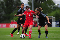 Helen Ward of Wales Women's' in action during the Women's International Friendly match between Wales and New Zealand at the Cardiff International Sports Stadium in Cardiff, Wales, UK. Tuesday 04 June, 2019