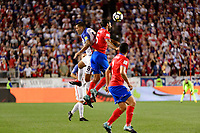 Harrison, NJ - Friday Sept. 01, 2017: Clint Dempsey, Celso Borges during a 2017 FIFA World Cup Qualifier between the United States (USA) and Costa Rica (CRC) at Red Bull Arena.