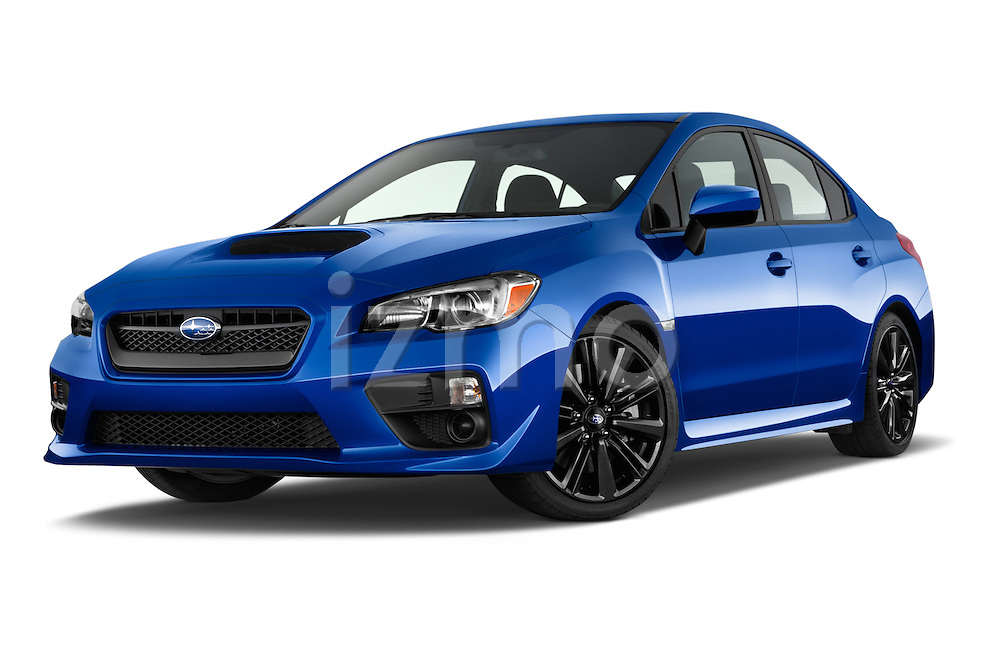 Stock pictures of low aggressive front three quarter view of a 2015 Subaru Wrx - 4 Door Sedan 2WD Low Aggressive