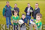CALENDAR: Members of the Moyvane GAA Coiste na n-O?g launching their 2011 fundraising calendar, front l-r: Dylan Quinn, Jason O'Gorman, Shay Leahy. Back l-r: Paddy Leahy, Billy Lynch, Eddie O'Gorman, Myles Quinn.