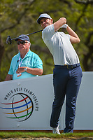 Lucas Bjerregaard (DEN) watches his tee shot on 12 during day 1 of the WGC Dell Match Play, at the Austin Country Club, Austin, Texas, USA. 3/27/2019.<br /> Picture: Golffile | Ken Murray<br /> <br /> <br /> All photo usage must carry mandatory copyright credit (© Golffile | Ken Murray)
