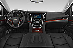 Stock photo of straight dashboard view of a 2018 Cadillac Escalade ESV 2WD Luxury 5 Door SUV