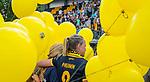 DEN BOSCH - Maartje Paumen (Den Bosch) , die haar laatste wedstrijd voor Den Bosch speelde,   na    de finale van de EuroHockey Club Cup, Den Bosch-UHC Hamburg (2-1) .  .COPYRIGHT  KOEN SUYK