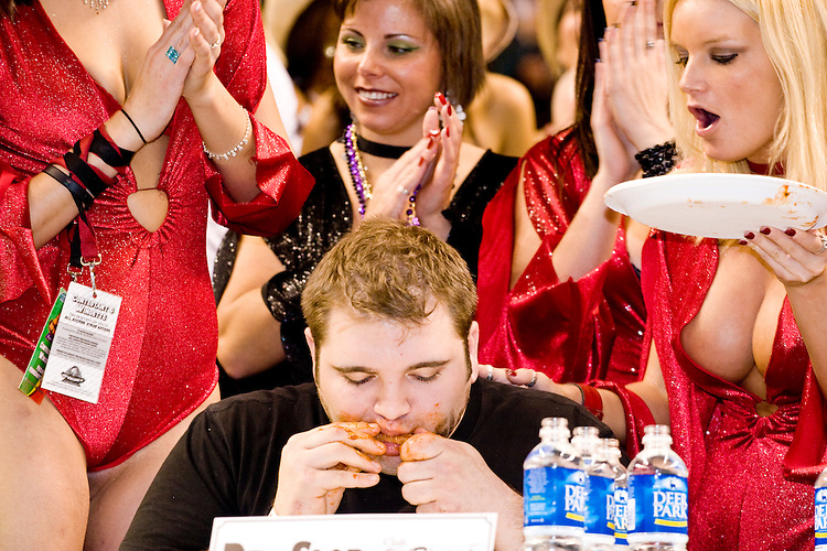 &quot;Dr. Slob&quot; at the 14th annual Wing Bowl, held in Philadelphia on February 3, 2006 at the Wachovia Center.<br /> <br /> The Wing Bowl is a competitive eating event in which eaters try and down the most hot wings in 30 total minutes in front of a crowd of 10,000 plus people.  The real show however is all around the eaters, from the various scantily clad women (known as &quot;Wingettes&quot;) that make up eaters' entourages, to the behavior of the fans themselves.