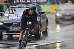 Jesus Herrada (ESP) Movistar Team in action during Stage 1, a 14km individual time trial around Dusseldorf, of the 104th edition of the Tour de France 2017, Dusseldorf, Germany. 1st July 2017.<br /> Picture: Eoin Clarke | Cyclefile<br /> <br /> <br /> All photos usage must carry mandatory copyright credit (&copy; Cyclefile | Eoin Clarke)