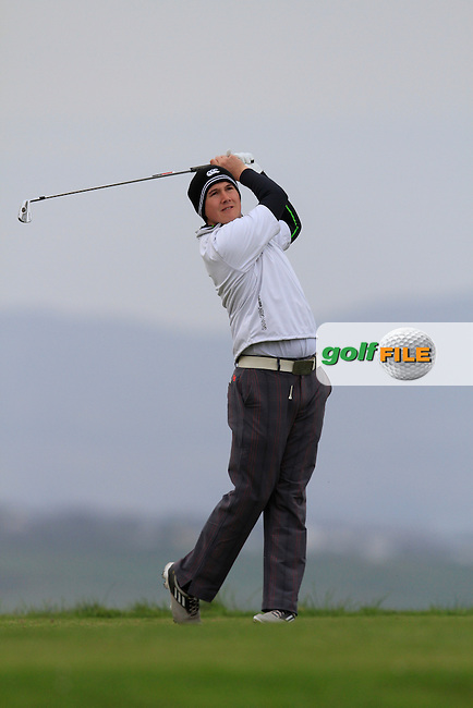 Colm Campbell ( Warrenpoint/UU) during round 2 of The West of Ireland Amateur Open in Co. Sligo Golf Club on Saturday 19th April 2014.<br /> Picture:  Thos Caffrey / www.golffile.ie
