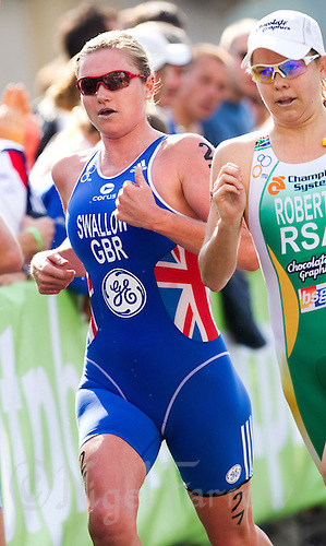 12 SEP 2010 - BUDAPEST, HUN - Jodie Swallow (GBR) - 2010 Elite Womens ITU World Championship Series Triathlon final .(PHOTO (C) NIGEL FARROW)
