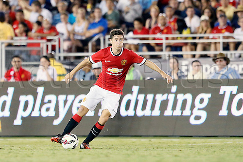 23.07.2014. Pasadena, California USA.  Chevrolet Cup international club tournament. LA Galaxy versus Manchester United.  ANDER HERRERA (MANCHESTER UNITED)