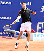 25.04.2012 Barcelona, Spain. ATP 500, Barcelona Open Banc Sabadell. Picture show Guillermo Garcia-Lopez (ESP)