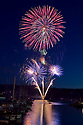 Hundreds of spectators gathered at Poulsbo's Waterfont Park Sunday for the annual 3rd of July fireworks show. The show lasted about 15 minutes. In the North End of Kitsap, Kingston Fireworks will commence on Monday at Mike Wallace Park. [Brad Camp | Special to the Kitsap Sun]