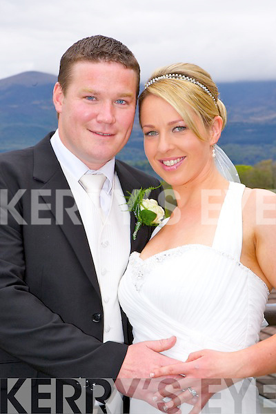 Lisa Doolan, Milltown daughter of the late Betty and Derry and Graeme Heasman, Maherees son of Paul and Mary, who were married in the Castlerosse Hotel, Killarney on Friday, best man was Pat Heasman, bridesmaid was Claire Cosgrove, flowergirl was Emily Heasman and the couple will reside in Castlerosse Hotel..