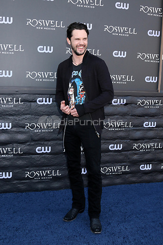 """WEST HOLLYWOOD, CA - JANUARY 10:  Nathan Parsons at the """"Roswell, New Mexico"""" Experience at the 8801 Sunset Blvd on January 10, 2019 in West Hollywood, CA Credit: David Edwards/MediaPunch"""