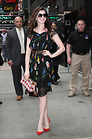 NEW YORK, NY - APRIL 17: Anne Hathaway seen at Good Morning America while promoting her new film, Colossal on April 17,  2017 in New York City.<br /> CAP/MPI/RW<br /> &copy;RW/MPI/Capital Pictures
