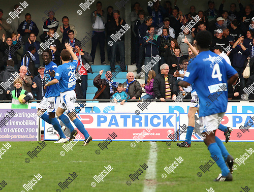 2010-05-02 / voetbal / seizoen 2009-2010 / KV Turnhout-KSK Ronse / Ibrahima Thiam Iyane maakt de aansluitingstreffer...Foto: mpics