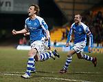 Liam Craig celebrates his dramatic last gasp goal for St Johnstone