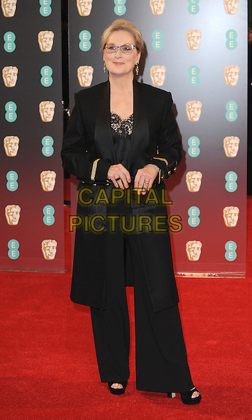 LONDON, ENGLAND - FEBRUARY 12: Meryl Streep attends the 70th EE British Academy Film Awards (BAFTA) at Royal Albert Hall on February 12, 2017 in London, England.<br /> CAP/BEL<br /> &copy;BEL/Capital Pictures