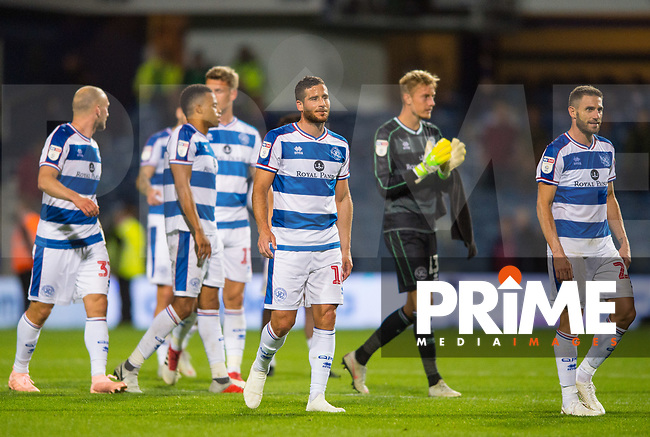 QPR's players after the Sky Bet Championship match between Queens Park Rangers and Millwall at Loftus Road Stadium, London, England on 19 September 2018. Photo by Andrew Aleksiejczuk / PRiME Media Images.