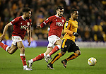 Nathan Byrne of Wolves gets away from Scott Golbourne of Bristol City - Football - Wolverhampton Wanderers vs Bristol City - Molineux Wolverhampton - Sky Bet Championship - 8th March 2016 - Season 2015/2016 - Picture Malcolm Couzens/Sportimage