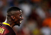 Calcio, Champions League, Gruppo E: Roma vs Barcellona. Roma, stadio Olimpico, 16 settembre 2015.<br /> Roma&rsquo;s Antonio Ruediger reacts during a Champions League, Group E football match between Roma and FC Barcelona, at Rome's Olympic stadium, 16 September 2015.<br /> UPDATE IMAGES PRESS/Riccardo De Luca<br /> <br /> *** ITALY AND GERMANY OUT ***