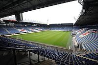 VOETBAL: ABE LENSTRA STADION: HEERENVEEN: 05-07-2014, Open dag SC Heerenveen, Nieuwe grasmat Stadion, ©foto Martin de Jong
