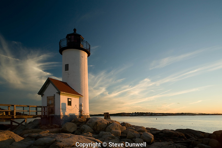 Annisquam lighthouse sunset, Cape Ann, MA