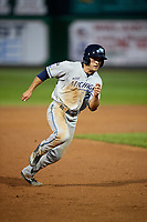 West Michigan Whitecaps right fielder Jacob Robson (7) runs the bases during a game against the Peoria Chiefs on May 8, 2017 at Dozer Park in Peoria, Illinois.  West Michigan defeated Peoria 7-2.  (Mike Janes/Four Seam Images)