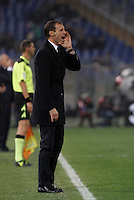 Calcio, Serie A: Lazio vs Juventus. Roma, stadio Olimpico, 4 dicembre 2015.<br /> Juventus coach Massimiliano Allegri gives indications to his players during the Italian Serie A football match between Lazio and Juventus at Rome's Olympic stadium, 4 December 2015.<br /> UPDATE IMAGES PRESS/Isabella Bonotto