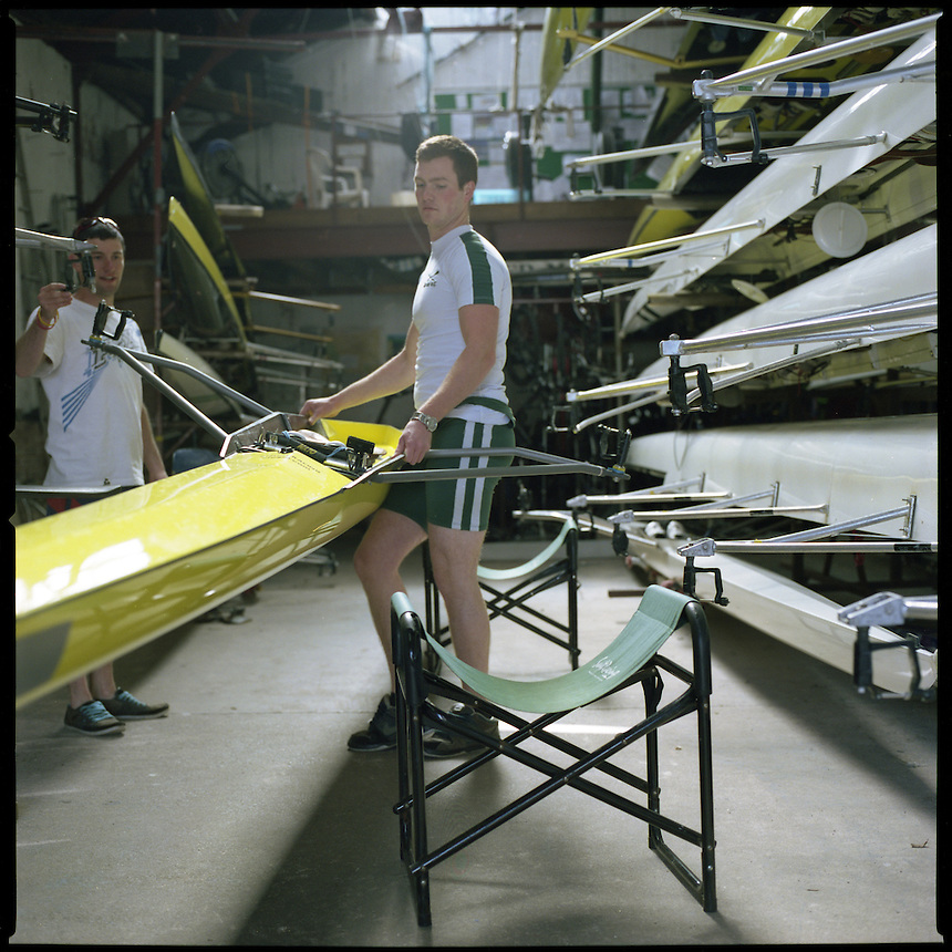 Will Mackie, a young competetive rower trains up to and over 6 times a week at Exeter Rowing Club to maintain fitness and technique. Exeter is a well known club, and atheletes from here compete regularly up and down the country at regattas.