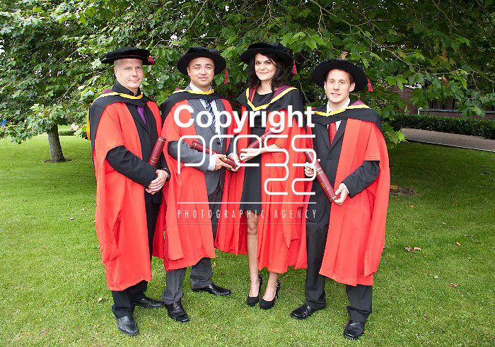 30.08. 2012   Attending the university of Limerick Conferrings on Thursday were Phd recepients, Dr. Anders Mattsson, Sweden, Dr. Noel O'Carroll, Corofin Co. Galway, Dr. Treasa Golden, Ballina Co. Mayo and Dr. Hugh Geaney, Kildimo Co. Limk. Pic. Alan Place / Press 22