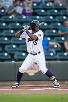Louis Silverio (15) of the Winston-Salem Dash at bat against the Buies Creek Astros at BB&T Ballpark on April 13, 2017 in Winston-Salem, North Carolina.  The Dash defeated the Astros 7-1.  (Brian Westerholt/Four Seam Images)