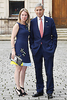 Stuart Rose (R) arrives for the VIP preview of the Royal Academy of Arts Summer Exhibition 2016