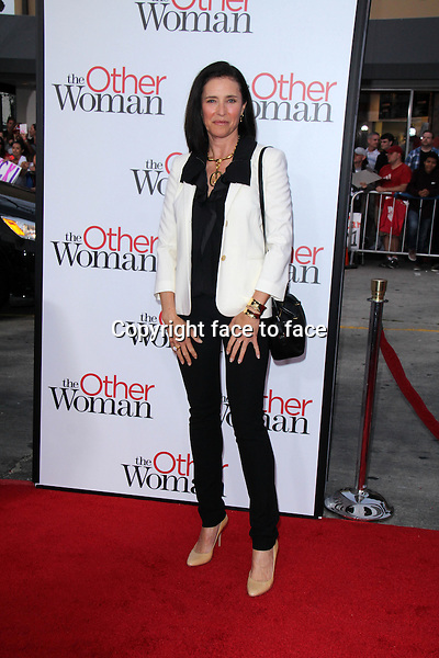 WESTWOOD, CA - April 21: Mimi Rogers at the &quot;The Other Woman&quot; Los Angeles Premiere, Village Theater, Westwood, April 21, 2014.<br />