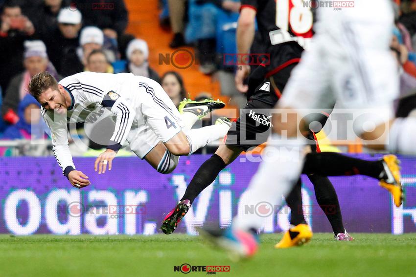 Real Madrid vs Rayo Vallecano during La Liga Match, in the pic: Sergio Ramos. February 17, 2013. (ALTERPHOTOS/Caro Marin) /NortePhoto