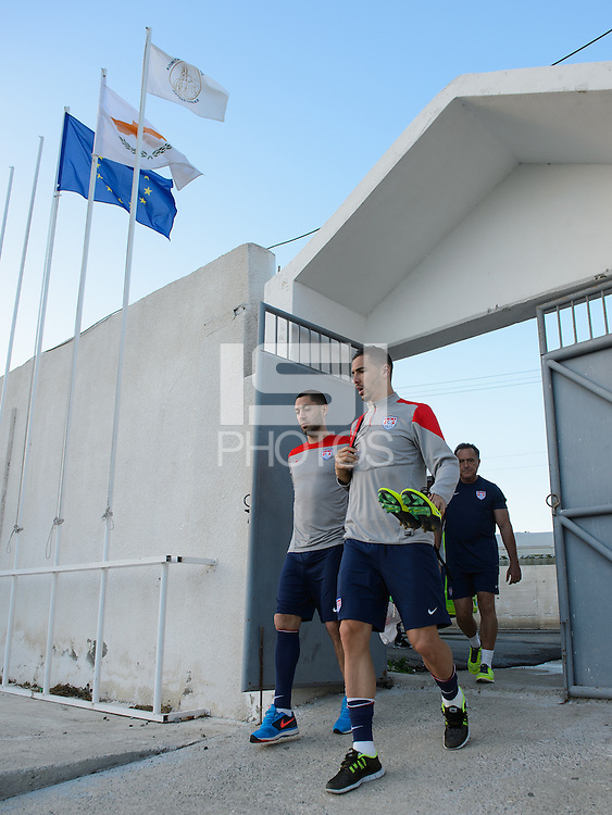 Limassol, Cyprus - Tuesday, March 4, 2014: The USMNT arrives and trains in preparation for an international friendly with Ukraine.