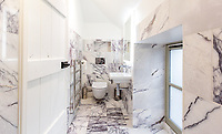 BNPS.co.uk (01202) 558833. <br /> Pic: Strutt&Parker/BNPS<br /> <br /> Bathroom. <br /> <br /> Have Nessie for a neighbour...<br /> <br /> A beautifully-restored 19th century farmstead just minutes from Loch Ness with stunning Highland views is on the market for £675,000.<br /> <br /> The Steading is in the ancient village of Dores and has been lovingly restored and transformed to create a stylish yet cosy home.<br /> <br /> The house is just a few minutes' walk from the beach at Dores and on a clear day from the shore you can see all the way to the opposite end of the iconic loch - 25 miles away at Fort Augustus - which would be a perfect spot to hunt for its famous monster.<br /> <br /> The Steading would be an ideal property for someone looking for a peaceful, rural retreat in the Scottish Highlands, or could be a good investment property to rent out to holidaymakers.