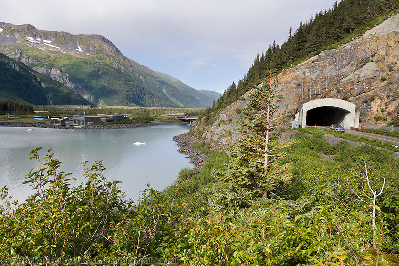Road tunnel through the Chugach mountains from Portage to Whittier. Begich boggs visitors center.