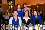 Mary Shanahan, Elaine Mullins, Michelle Buckley, Christina Buckley, Stephanie Buckley enjoying the  Lixnaw GAA club annual social at Ballyroe Heights hotel on Saturday