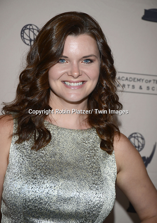 Heather Tom in Alice and Olivia silver dress attends the Academy Of Television Arts & Science Daytime Programming  Peer Group Celebration for the 40th Annual Daytime Emmy Awards Nominees party on June 13, 2013 at the Montage Beverly Hills in Beverly Hills, California.