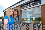 Tina Goodall proprietor with her.assistant Aisling Conway, pictured.outside Aspire Hair Solutions in.Manor Village in Tralee.