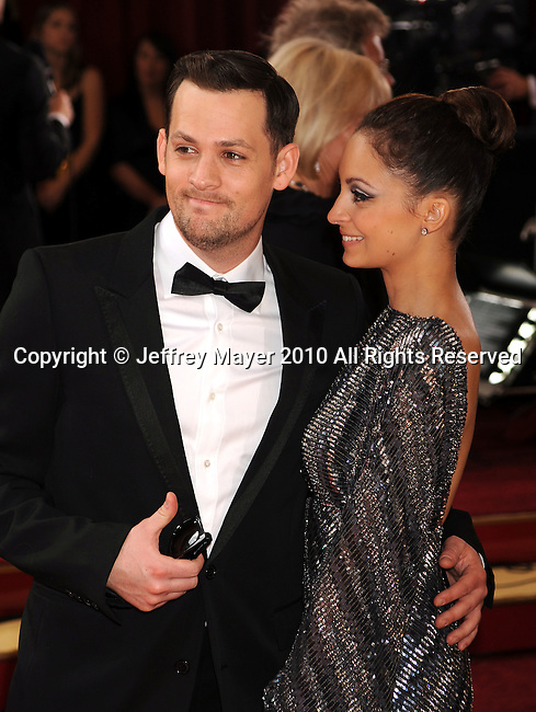 HOLLYWOOD, CA. - March 07: Joel Madden and Nicole Richie arrive at the 82nd Annual Academy Awards held at the Kodak Theatre on March 7, 2010 in Hollywood, California.